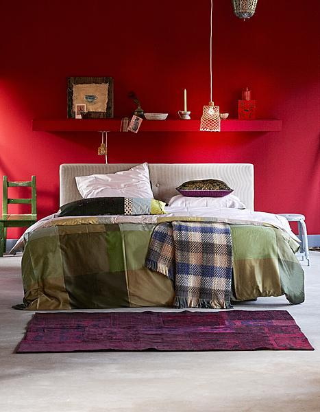 a red bedroom