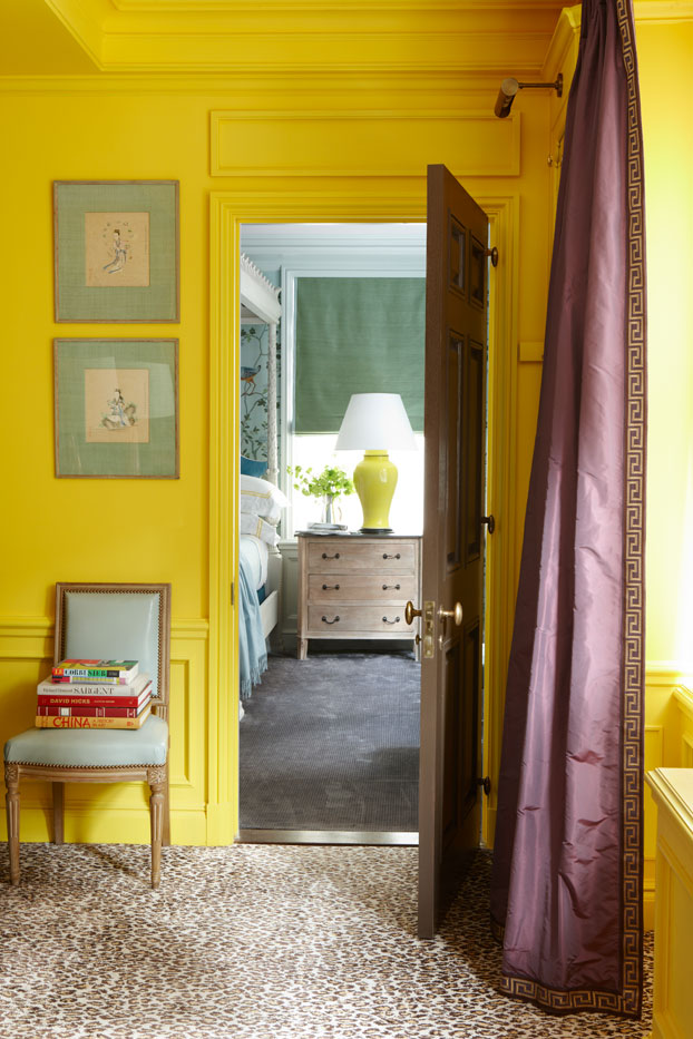 bright yellow room