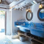 Cobalt Blue Concrete Basins