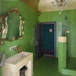 Green and Gold Glam Bathroom