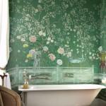 Vintage Green Chinoiserie Bathroom