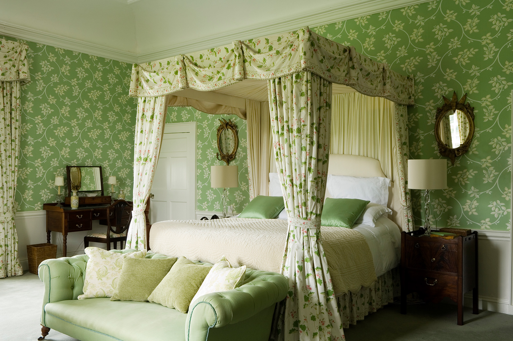 Irish Country Green Bedroom Interiors By Color