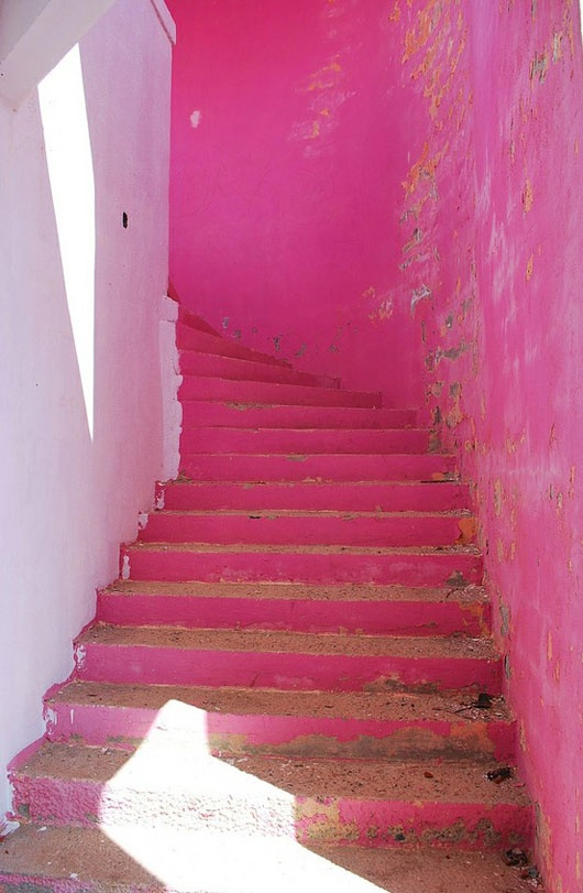 Hot Pink Stairs