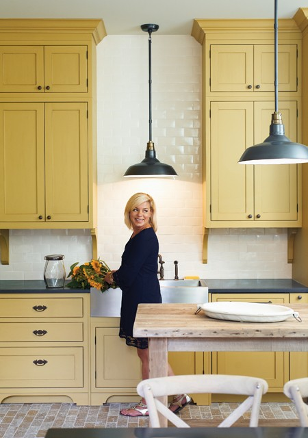 Mustard Kitchen Cupboards  Interiors By Color