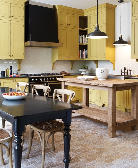 Pale Yellow Kitchen Cabinets: Mustard Kitchen Cupboards