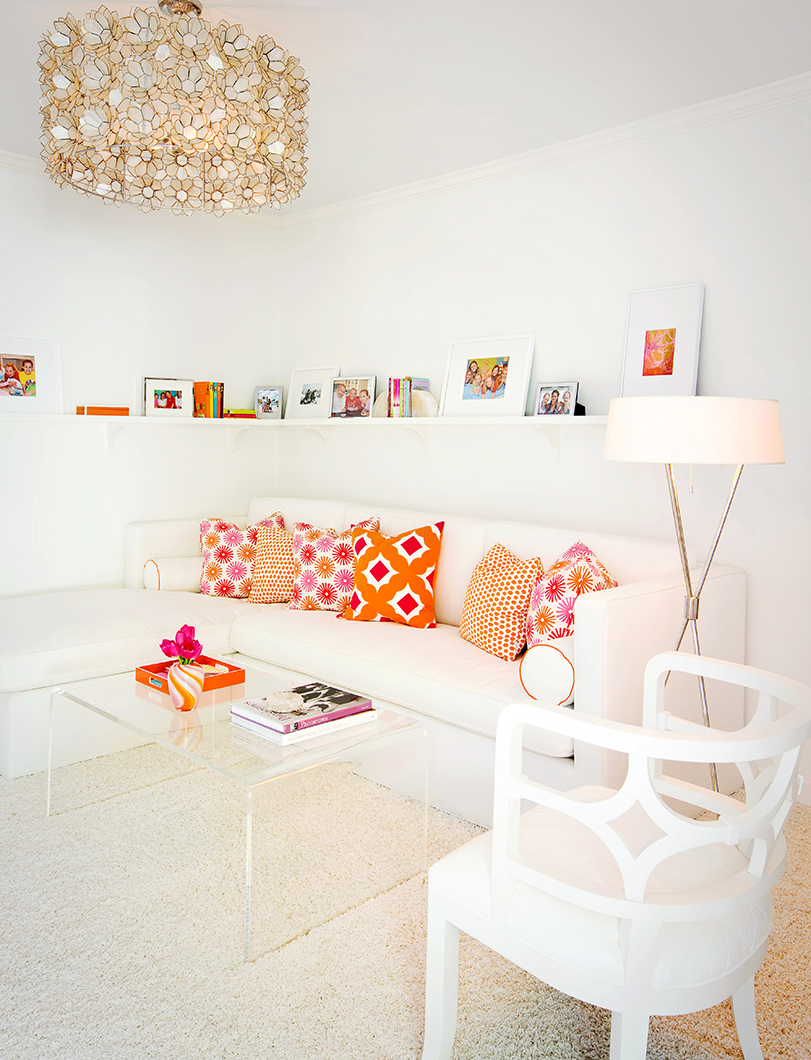 Orange And Pink Bedroom Pink Orange And White In The Bedroom Interiors By Color
