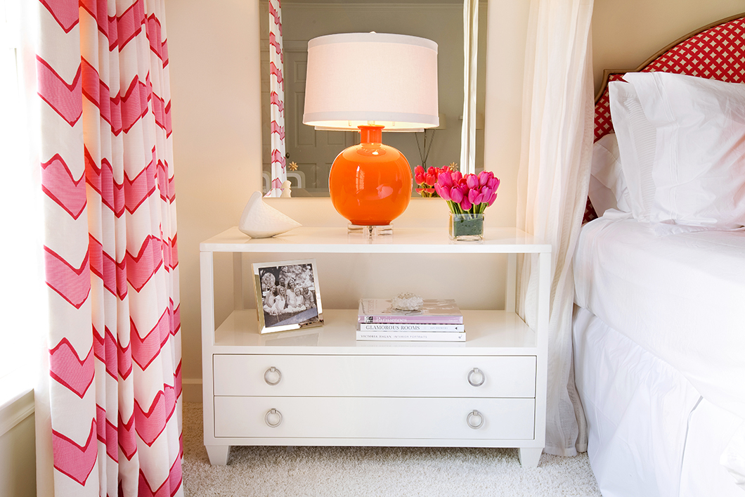 Pink Orange And White In The Bedroom Interiors By Color