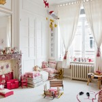 Girls Room In White with Red Accents