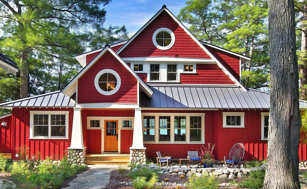 A Cottage Painted Red