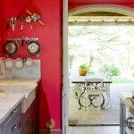 Red Kitchen in Tuscany