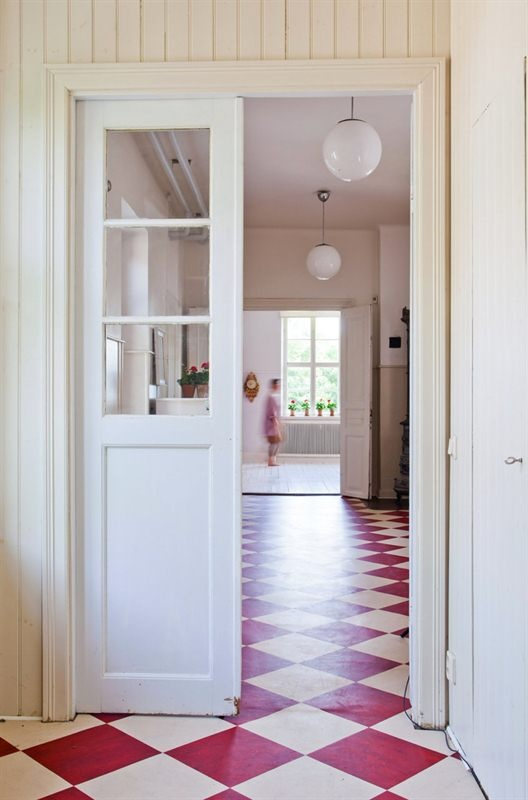 Red And White Checkered Floors Interiors By Color
