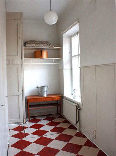 Red And White Checkered Floors Interiors Color