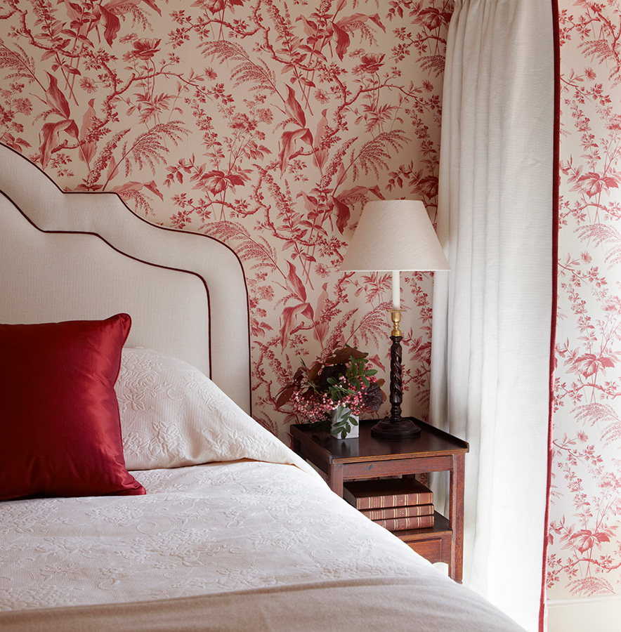 wallpaper for bedroom walls reds in scotland interiors by color 17769