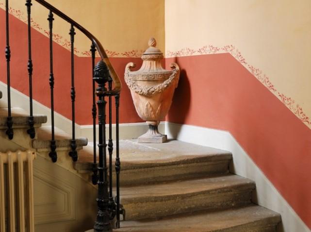 stone stairs orange