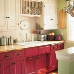 Red and White Duo Cabinets