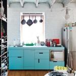 blue cabinets ikea