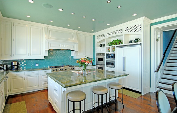 A Turquoise Kitchen In Malibu Interiors By Color