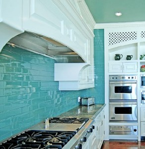 A Turquoise Kitchen in Malibu