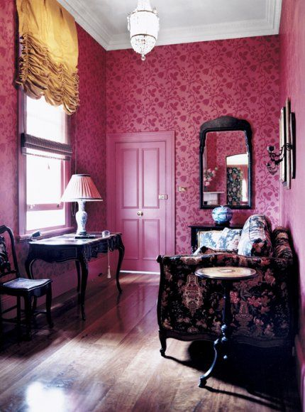 Deep Pink And Floral Interiors By Color