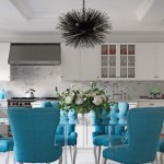 Grand Kitchen in Turquoise and White