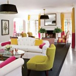 White Yellow Pink Living