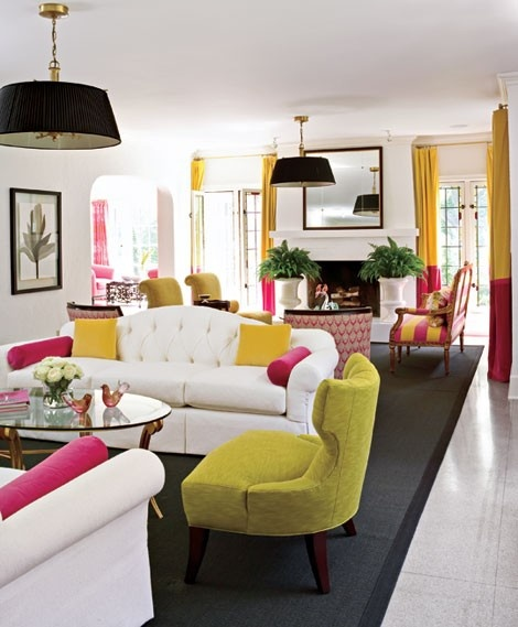 Grey Pink Trendy Home Decor 1000 Ideas About Grey Interior: White Yellow Pink Living