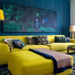 Eclectic Blue and Yellow Living