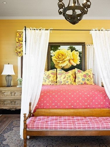 yellow rose interiors by color 16698 | yellow and pink bedroom