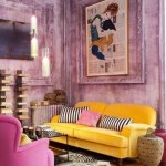 Yellow, Pink and Mauve Living Room