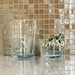 Neutral Mosaics with Gold Dusting