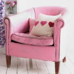 Baby Pink Leather Armchair