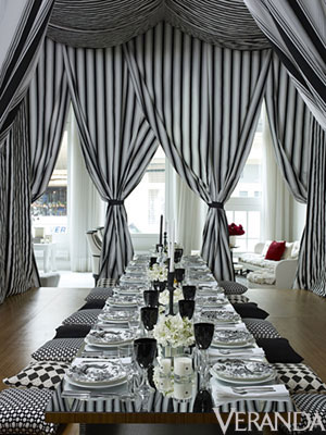 back white table arrangement dining
