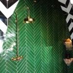 Green Chevron Tiles