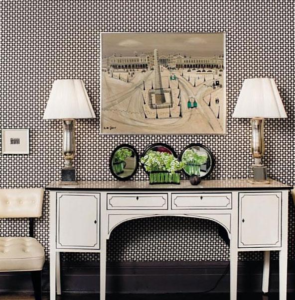 black-adn-white-busy-wallpaper-foyer