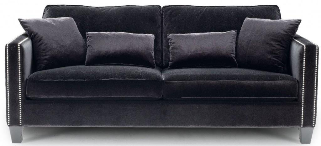 Black Velvet Sofa TheSofa