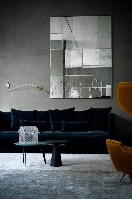 Black Velvet Couch