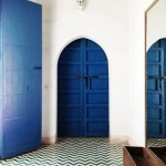 Blue Door and Chevron Floor