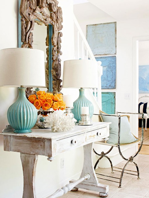 console-table-and-lamps-turquoise
