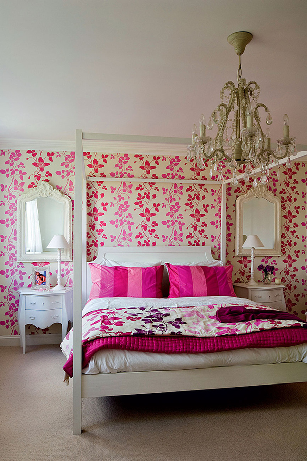 fuschia pink bedroom pink florals interiors by color 11630