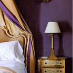 Frecnh Bedroom in Purple and Gold