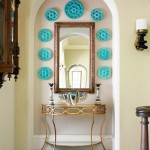Gold and Turquoise Foyer