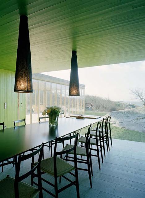 green alfresco dining