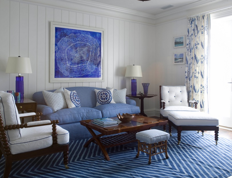 howard blue living room