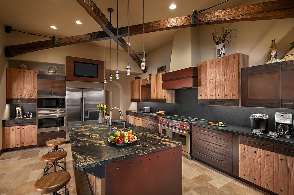 Rustic luxury kitchen interiors by color for Rustic kitchen designs