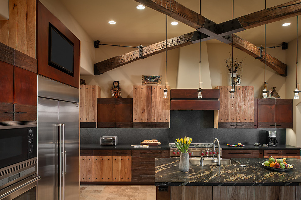 Rustic luxury kitchen interiors by color - Modern rustic kitchen cabinets ...