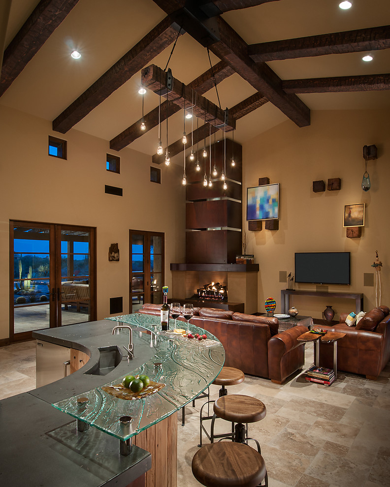 Luxury House Interior Living Room: Rustic Luxury Kitchen