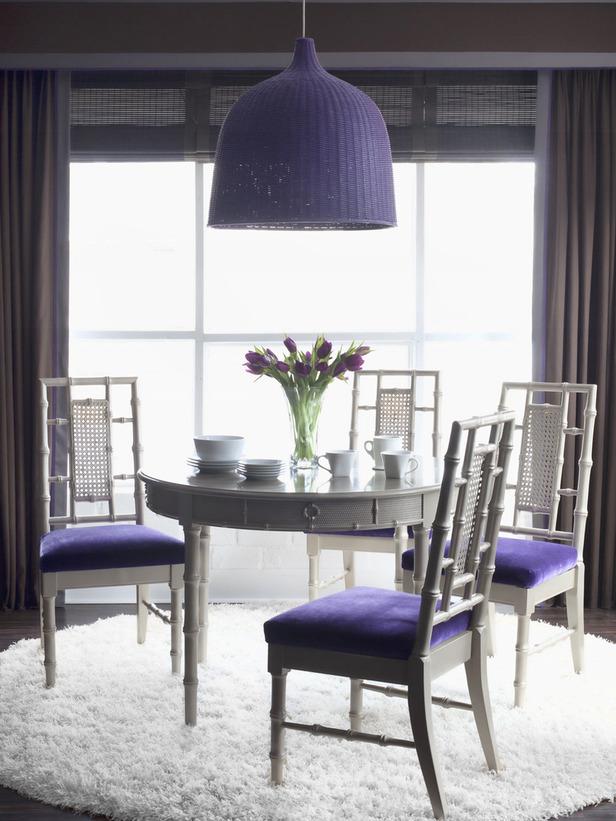 modern purple dining