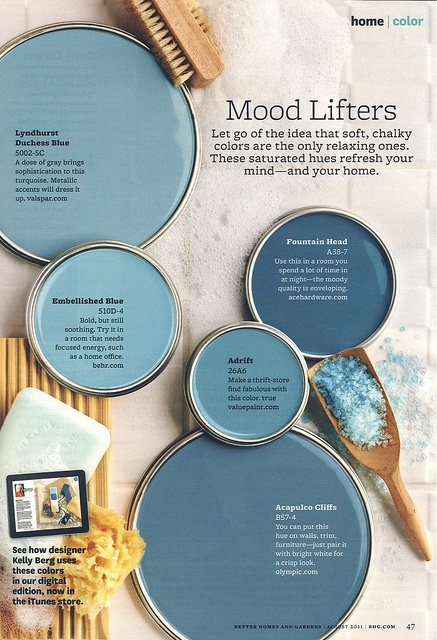 Mood Lifters Blue Paint Color Interiors By Color