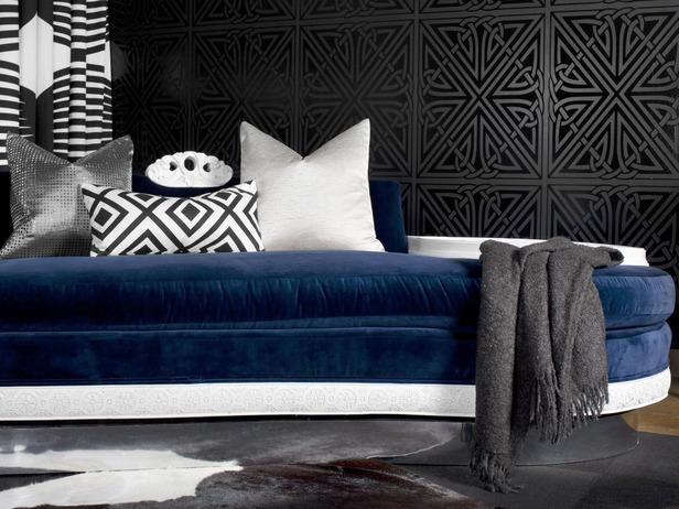 navy blue velvet sofa