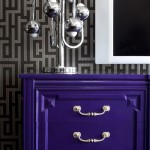 Purple Dresser and Graphic Paper